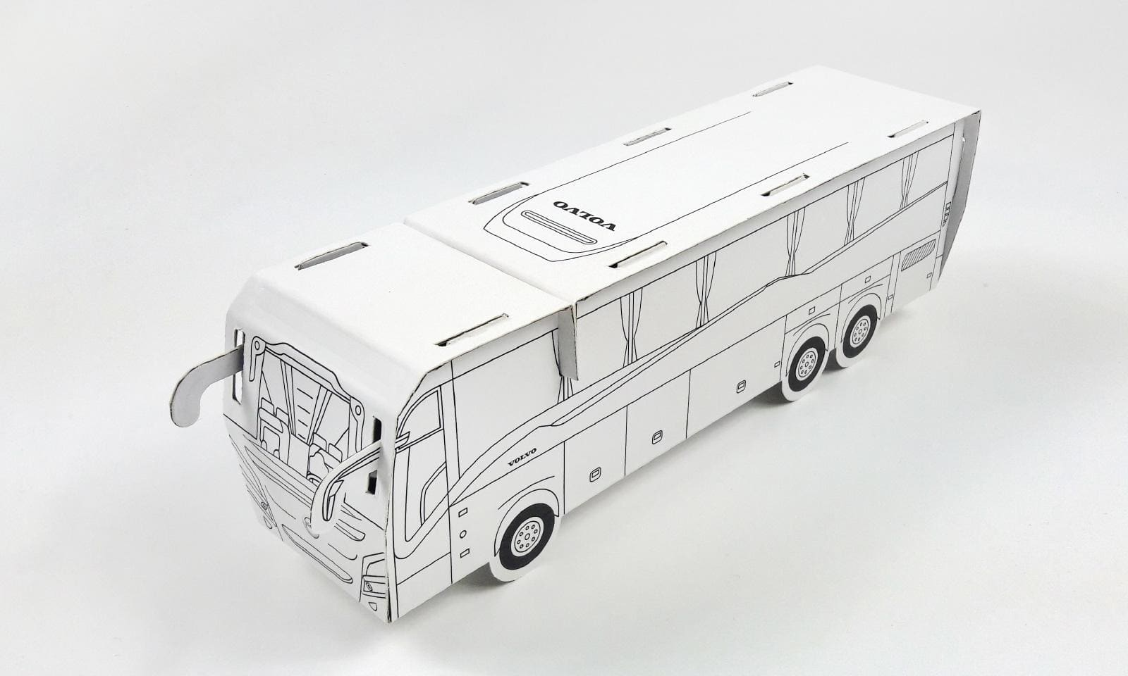 Kartonowy model autobusa