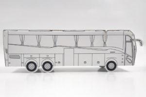 Kolorowanka 3D autobus