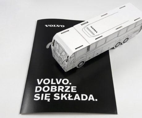 Papierowy autobus VOLVO