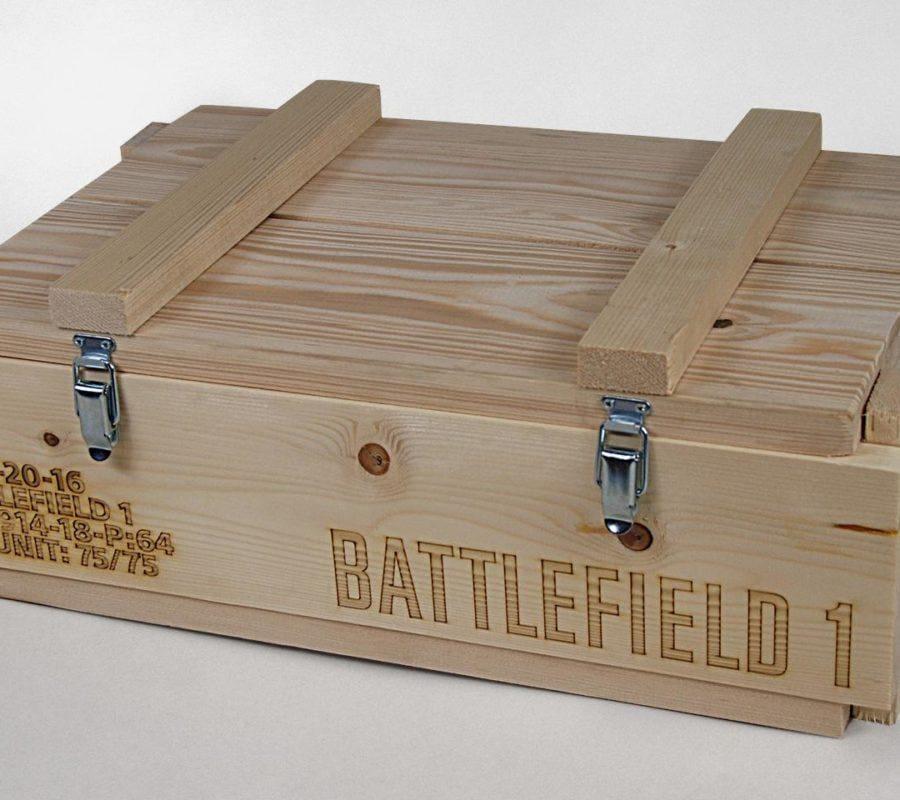 Pudełko drewniane BATTLEFIELD 1 zamknięte