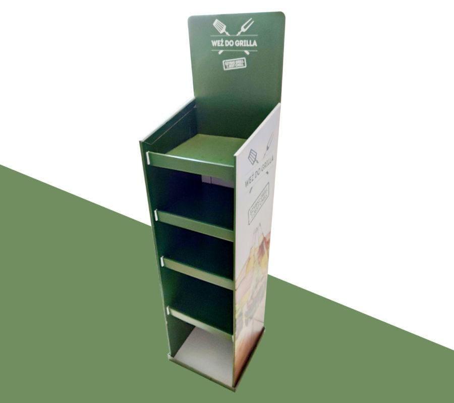 Ekspozytor kartonowy naziemny 6-poziomowy