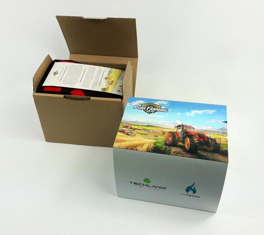 pudełko kartonowe purefarming otwarte