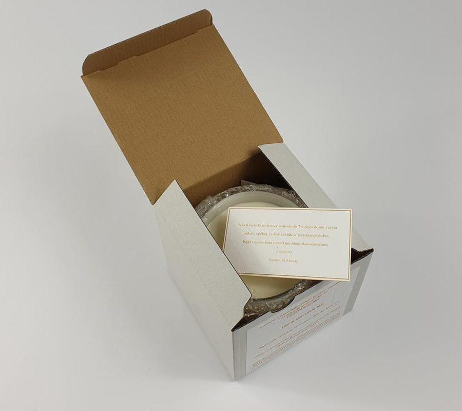 Świeca podarunkowa w pudełku