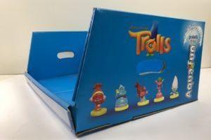 ekspozytor na drobne zabawki niebieski