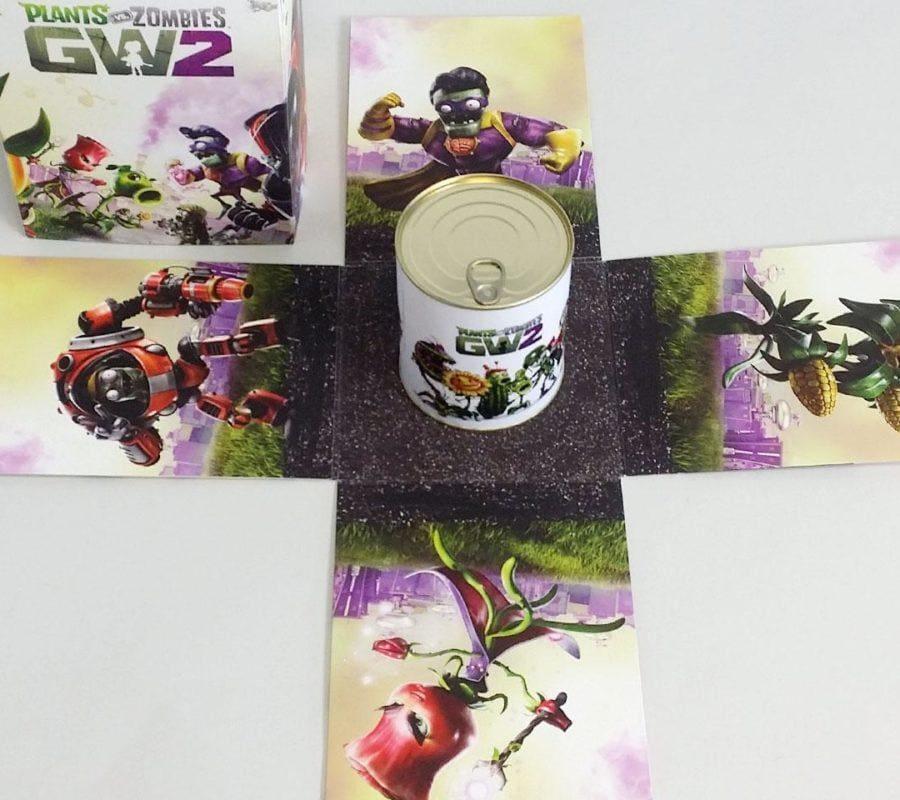 Puszka i pudełko plants vs zombie
