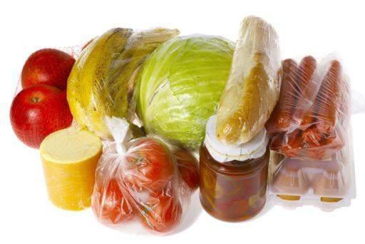 Jedzenie zapakowane w folię