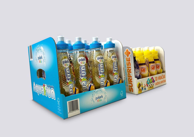 Standy kartonowe dla soków